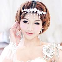 Colour bride rhinestone tassel married hair accessory wedding hair accessory formal dress accessories