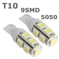 T10 9SMD 5050 9 smd 9led 9 led Car 194 168 192 W5W LED Light Automobile Bulbs Lamp Wedge Interior Light#f3e82