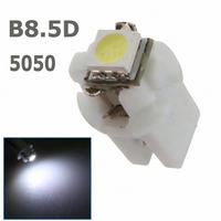 10x T5 LED Lamp B8.5D Car Gauge 5050 1 SMD led 1smd 1led B8.5 Speedo Dashboard Dash Side Light Bulb White Blue Red