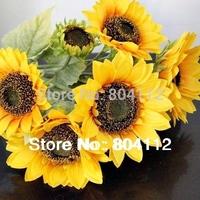 """22"""" tall High Simulation Artificial Silk Sunflower Flower Bunch Home Wedding Floral Decor"""