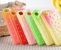 Free shipping 6 Colors Cute Candy Strawberry Soft Back Case Cover For Apple iPhone 5 5G  c4001