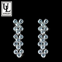 Design from Rome AAA+ Cubic Zirconia Stones Paved Stud Earrings (Umode UE0040)