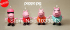 Free shipping! 8pcs/lot HOT Mattel pink pig sister peppa pig cartoon pig toy plastic doll furnishing articles for kids best gift(China (Mainland))