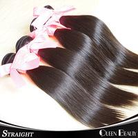 Modern show hair 4pcs lot unprocessed indian virgin hair shipping free,natural black color virgin straight hair