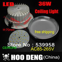 Sale 36W Ceiling downlight LED lamp Recessed Cabinet wall Bulb 110V-220V for home living room illumination 1pcs/lot