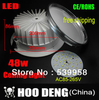 Sale 48w Ceiling downlight LED lamp Recessed Cabinet wall Bulb 85V-245V for home living room illumination 1pcs/lot