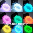 5 M 16 Feet EL Wire Neon led Light Rope For Party Car Decoration + BATTERY PACK 4szie 10 color hot Free shipping(China (Mainland))