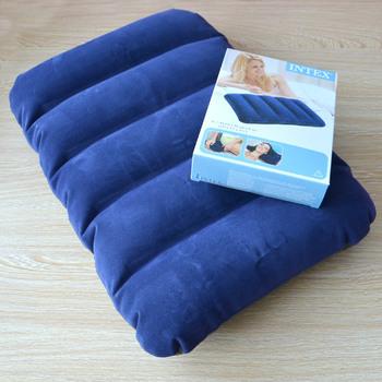 Intex надувные путешествия подушка 43 * 28 см синий цвет бесплатная доставка