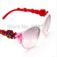 Free Shipping UV400 Fashion Cartoon Butterfly Children's Sunglasses