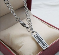 Top quality fashion Men Jewelry 316L stainless steel white gold plated necklaces pendants
