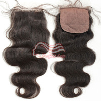 """Perfect New Product 1pc/lot Freestyle Silk base Closure Virgin Hair Brazilian Body Wave 10""""-20"""" Middle Part 3 Way Part Available"""