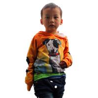 1202 hot sale retail clothing shij190 children Hoodies  novelty cut dog cartoon long sleeve 2014 new cotton  3~11age
