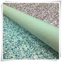 "wholesale and retail pu glitter materials shoe leather glitter leather 0.7mm*52""+-0.05 G041"