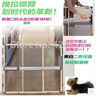 Madeira maciça instalação rápida ultra gate não há necessidade de hole escavação moda bebê criança portão de segurança do animal 67 ~ 106 cm não há necessidade de extensão(China (Mainland))