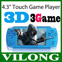 """New 2015 3D Game ultrathin 4.3"""" Touch Screen 3D Game Player 4GB HDMI Output Handheld Game Player PMP Free 500 Games"""