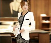 2014 New Blaser Feminino Rushed Regular Fashion Winter Women Slim Blazer Coat Casual Jackets Sleeve One Button Suit Ol Outerwear