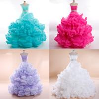 Vestido De Noiva 2014 Specialty Custom-Made 80 Colour Dress For Dance Of Cloud Puffy Ball Gown Wedding Dresses Robe De Mariage