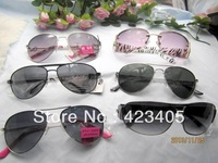 Free shipping 2014 Hot sale Men  women's fashion Super Star lovely new metal mix Sunglasses  gift big sale
