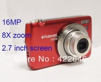 Free shipping 16Mega Pixel digital camera proferssional +8XOptical zoom+2.7''Screen included rechargable battery+AC Charger