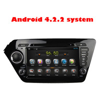 Free shipping Touch Screen Android 4.2 Car DVD for KIA K2 Rio 2011 2012 with GPS+3D Rotating UI+DVD+SWC+ATV+BT
