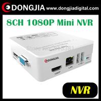 DONGJIA DA-2008GM-W mini housing 1080P 8ch standalone H.264 nvr recorder