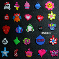 1000pcs colorful dolls Mix smart charms with metal loop  For  loom bands diy bracelet wholesale  loom charms factory price