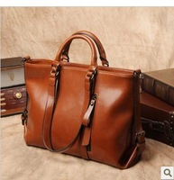 NEW 2014 Autumn And Winter Fashion Bag Vintage Bag Women Leather Handbags Cowhide Women Shoulder Bags Women Handbag Big Bag A032