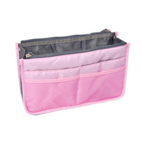 New 2014  Multi-functional Travel Pockets Double Zipper Portable Handbag Storage Bag, Travel Cosmetic Makeup Wash Bag #349