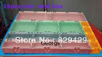 IC original box SMD chip components interlocking parts can patch box Assembled box   smd storage box  15pcs/set  Free shipping