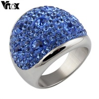 1pcs Free Shipping Hot  sale Austria Crystal Rings for Women Stellux Party Jewelry 6 color RC-003