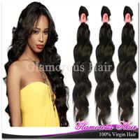 6A Top Grade Malaysian Virgin Hair Free Shipping, Virgin Natural Wave 100% Human Hair,Can be Colored , Color 1b