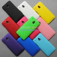Free Shipping! High Quality Oil-coated Rubber Matte Hard Case for HTC One Mini M4 Colorized Hard Matte Cover, HCC-066