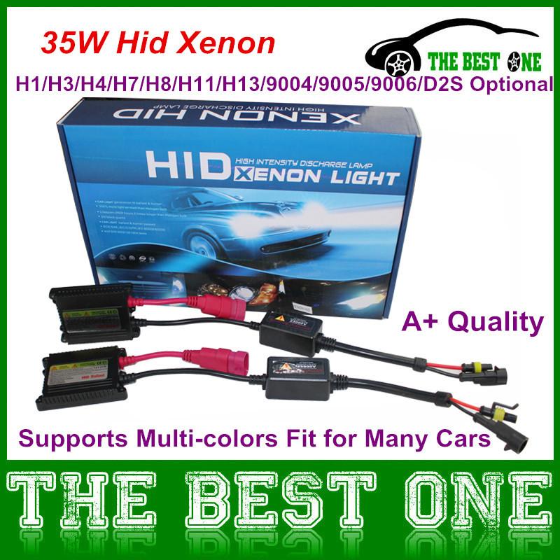 12V AC H1 H3 H7 D2S Bulbs Slim Ballasts 35W Hid Xenon Conversion Kit High Intensity Replacement Xenon Bulb Headlight Lamp(China (Mainland))