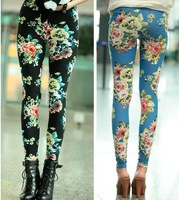 Free Shipping  Women's flower Leggins for women girls sport Jeans For Women sport Leggings high quality Tights wholesale