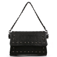 Designer skull print fashion women shoulder bag rivets leather handbags style Wholesale