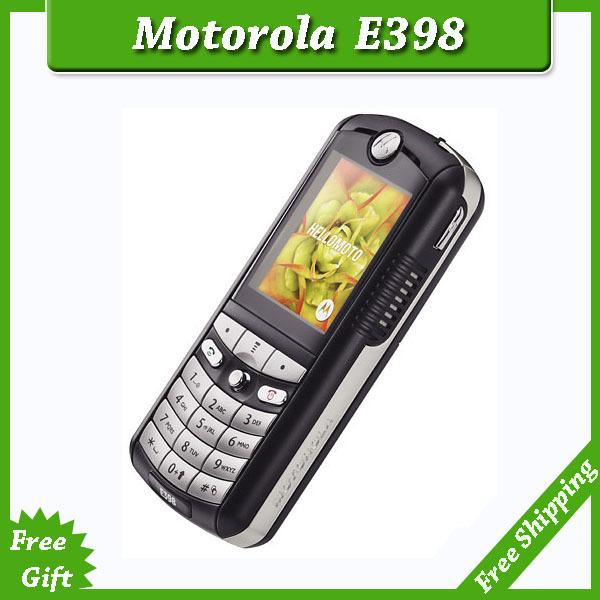 Livraison gratuite sg. poste, 100% motorola. e398 original déverrouillé téléphones mobiles avec la russie clavier