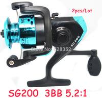 2014 New 3BB 5.2:1 Carp Fishing Reel Spinning Fishing Reel Fly Fishing Ice Fishing Tackle Wholesale SG200