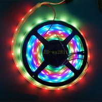 20m 4X5M 30 Pixel/m 5050 RGB WS2811 IC WS2812B 5050 RGB black PCB LED Strip 5V Addressable Color