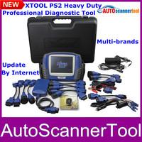 100% Original PS2 Heavy Duty Truck Diagnostic Scanner For Multi-brands Trucks EU/America/Asian Online Update Express Shipping