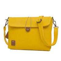 woman casual bags fashion 2014 designers small bag Fashion Handbag PU Leather Women Messenger Bags Candy Color Bag For Z45