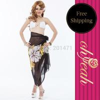 Bikini Wrap Dress High Fashion Sarong Free Shipping Swimsuit Cover Up Swim Cover Up Beach Sarong For Women B016