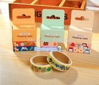 New fashion washi masking cartoon DIY tape/cute adhesive tape / DIY sticker label/wholesale