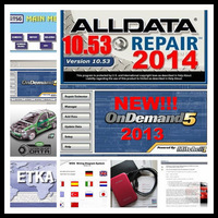 alldata auto repair software 2014 Alldata 10.53 (576GB)+2013 Mitchell(108GB)+auto data software v3.38 in 750G HDD free shipping