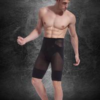 Free Shipping  10pc/lot Color Blac Men Make Slender Slimming Shaper Sport Shorts
