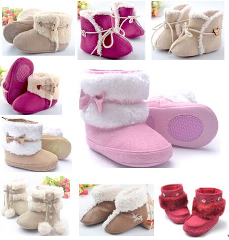 Einzelhandel! Heißer verkauf baby stiefel, mode baby schneeboots, säuglingsschuhe, warme babyschuhe, modell viele für wählen