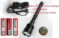 TrustFire 3T6 3800 lumens flashlight 5-Mode 3 * Cree LED Flashlight Torch Lamp Torch + 3x 18650 battery+1XEU/US plug charger