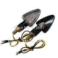 BJ-SL-013 2pcs X 12 V Short Black housing 18 LEDs motorbike Turning Signal Led Light flasher