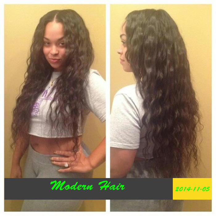 Middle Part Wavy Weave Free-shipping-unprocessed- ...