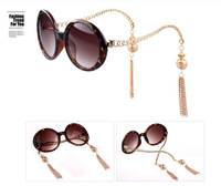 B-Hot Sale 2013 New Woman Sunglasses Women Retro Round Gold Metal Girls' Sunglasses Fashion Glasses Brand Designer Ladies Shades