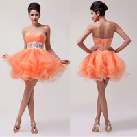 Free Shipping Grace Karin Real photos Mini ball gown sexy prom evening dress 2014 quinceanera party dress short CL4793